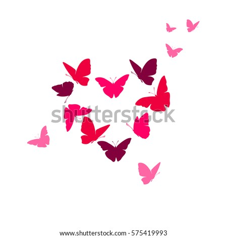 heart of butterflies valentine