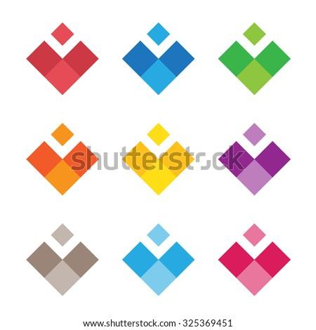 heart of color pixels heart
