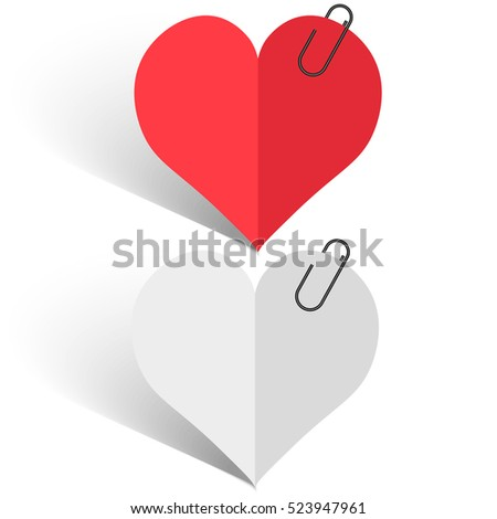 heart of red and white paper