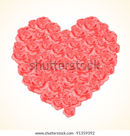 Heart of roses #91359392