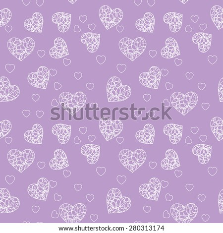 heart on a lilac background