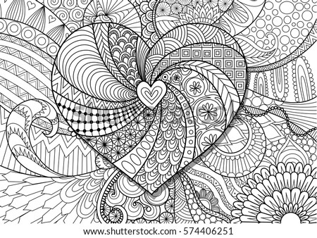 heart on floral background for