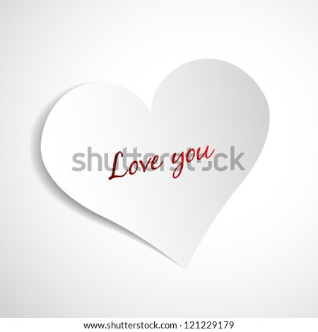 heart on paper background
