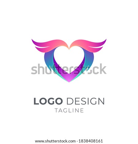 heart or love and wing logo