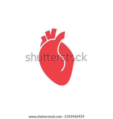 Heart organ icon design template vector isolated illustration
