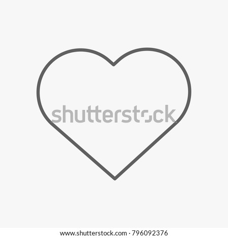 Heart outline icon on white backround