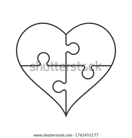 heart outline in a shape of a