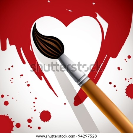 heart painted with brush