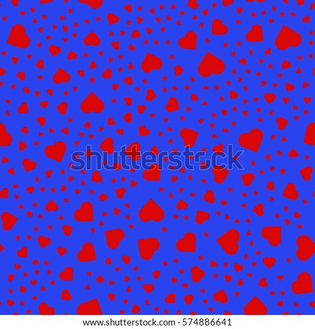 heart pattern on the blue