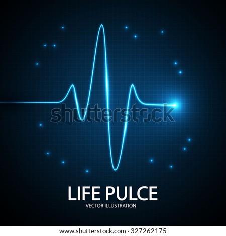 Heart Pulse Background. Vector illustration