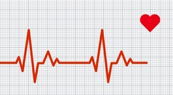 Heart pulse graphic. Vector illustration.