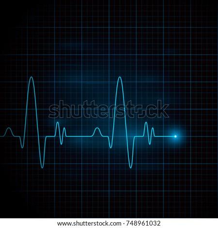 Heart pulse graphic. Vector illustration, eps 10.