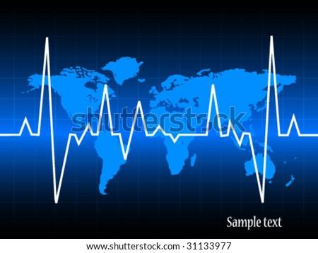 heart pulse on map