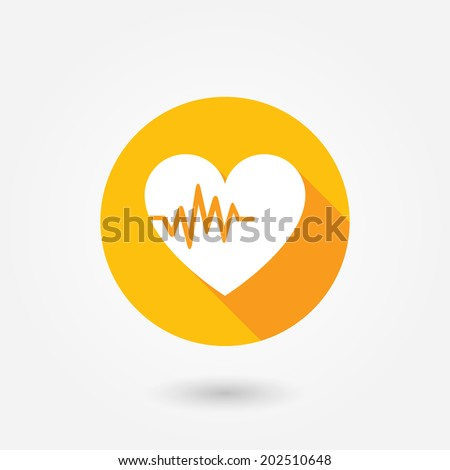 Heart Rate flat icon