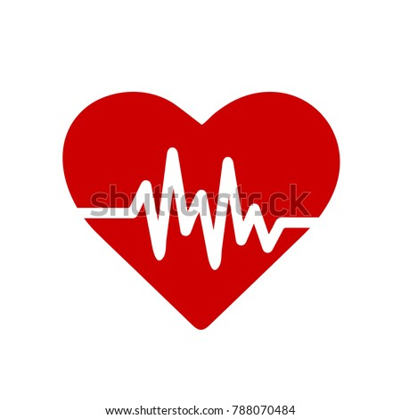 heart rate icon - health monitor