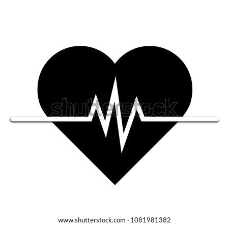 Heart rate icon - health monitor. black Heart Rate.Blood pressure vector icon, heart cheering cardiogram, good health logo, healthy pulse flat symbol, medical pulsometer element