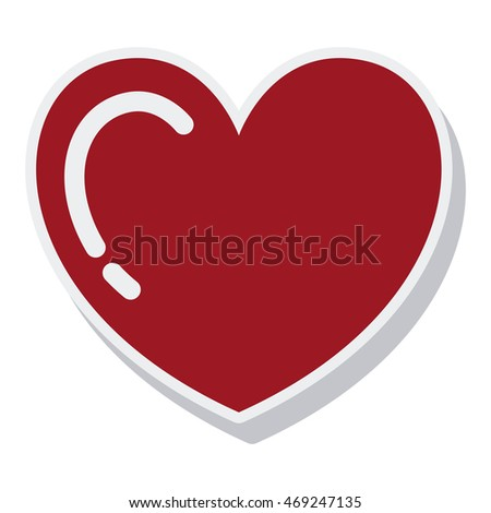 heart red love isolated icon vector illustration design