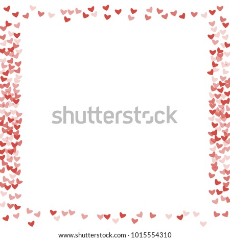 Heart red pattern which consists of isolated elements. Modern style with beautiful elements in heart red pattern. Can be used as print, wallpaper, cards, valentine cards, logo, background and etc. #1015554310