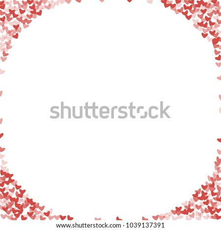 Heart red pattern which consists of isolated elements. Modern style with beautiful elements in heart red pattern. Can be used as print, wallpaper, cards, valentine cards, logo, background and etc. #1039137391