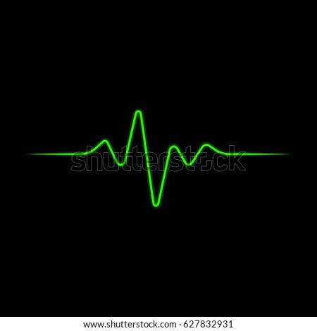 Heart rhythm vector icon. Pulse line illustration.