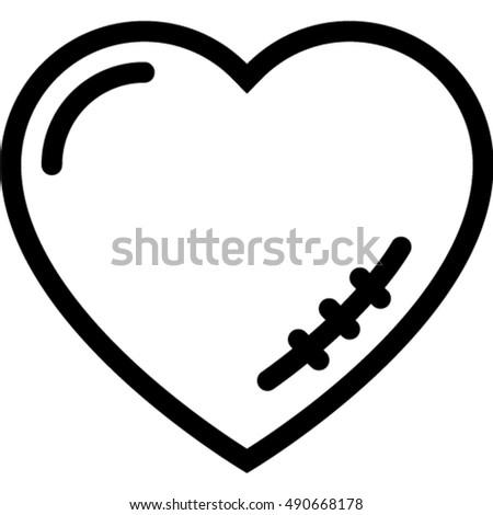 heart scar icon