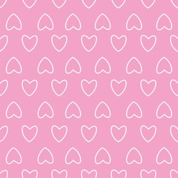 Heart seamless pattern. For prints, greeting cards, invitations for holiday, birthday, wedding, Valentine's day, party. Vector illustration.
