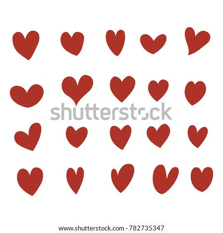 Heart set vector