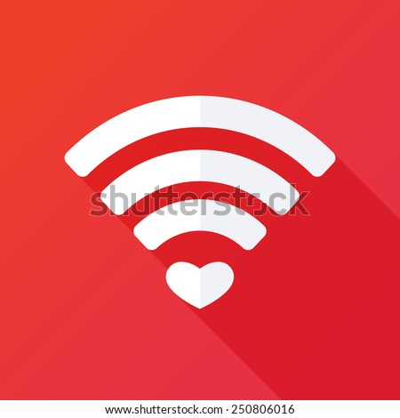 heart shape and wifi sign