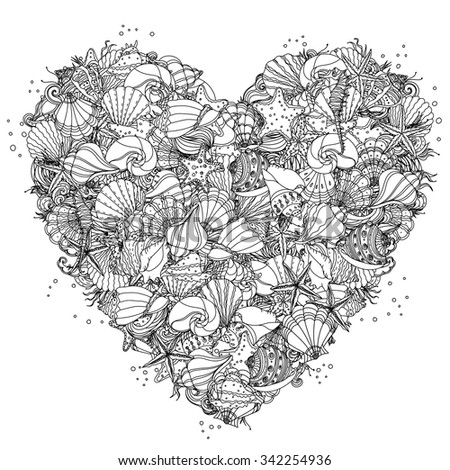 heart shape black and white