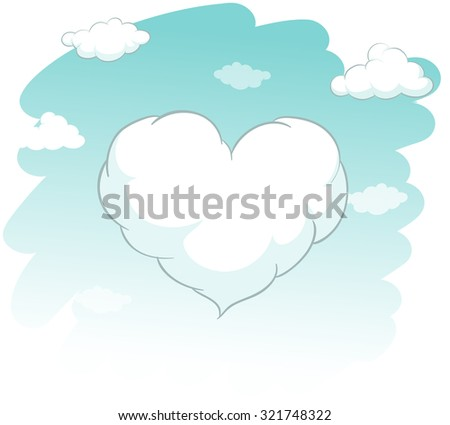 heart shape cloud in the sky