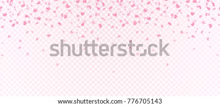 heart shape confetti  flowers