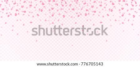 heart shape confetti  flowers