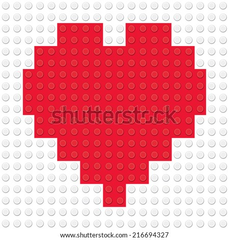 heart shape created from