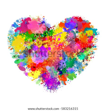 heart shape illustration with