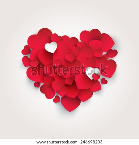 heart shape made from smaller