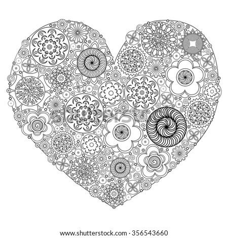 heart shape pattern for