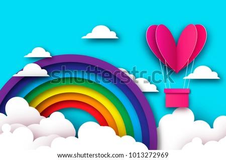 heart shape pink hot air