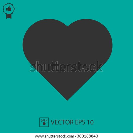 Heart shape vector icon eps 10. Valentine symbol.