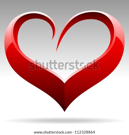 heart shape vector object