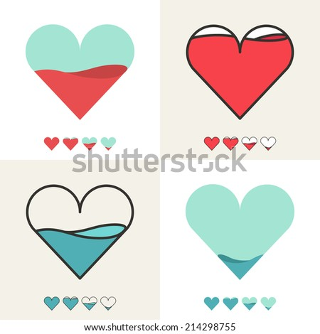 heart shape with filling meter