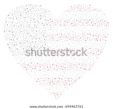 heart shaped abstract american