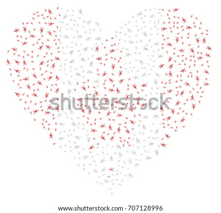 heart shaped abstract canadian