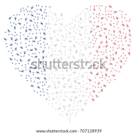 heart shaped abstract french