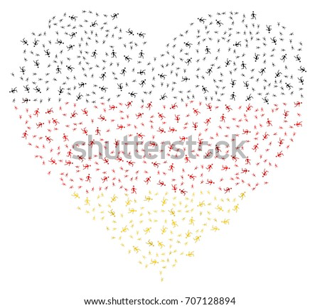 heart shaped abstract german