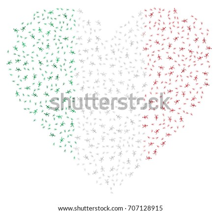 heart shaped abstract italian