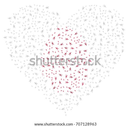 heart shaped abstract japanese