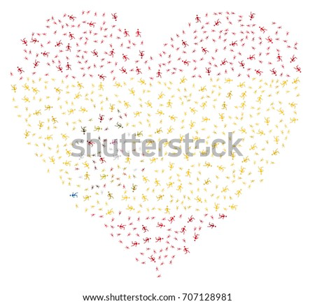 heart shaped abstract spanish