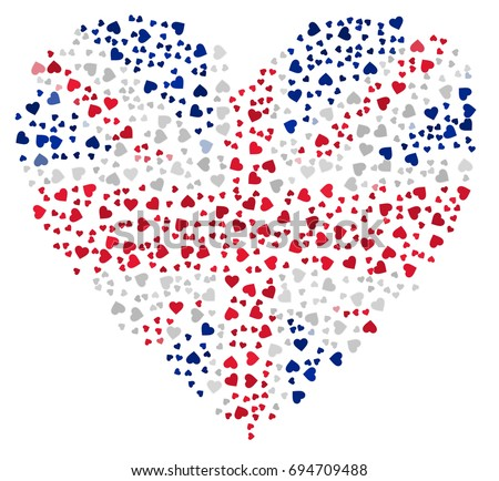 heart shaped abstract uk flag