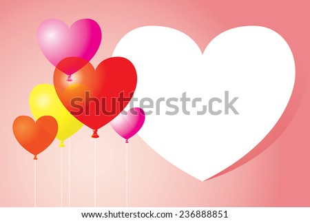Heart-Shaped Balloons Background and Frame #236888851
