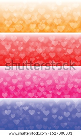 Heart shaped bokeh images, perfect for creating as a background image. Have Blue color ,Pink color, Red color and Yellow color